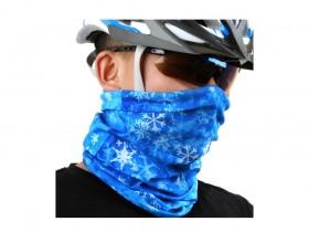 اسکارف طرح دار آبی Blue