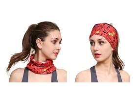 اسکارف طرح دار قرمز Red