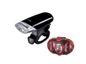 ست چراغ جلو و عقب دوچرخه اینفینی مدل I-1206-LUXO-VISTA